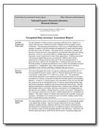 Geospatial Data Accuracy Assessment Repo... by Lunetta, Ross S.