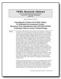 Expanding the Framework for Risk Analysi... by Laniak, Gerard