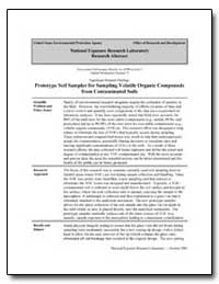 Prototype Soil Sampler for Sampling Vola... by Schumacher, Brian A., Ph. D.