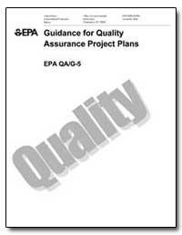 Guidance for Quality Assurance Project P... by Environmental Protection Agency
