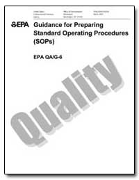 Guidance for Preparing Standard Operatin... by Environmental Protection Agency