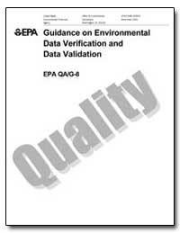 Guidance on Environmental Data Verificat... by Environmental Protection Agency
