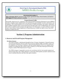 Section I. Program Administration by Environmental Protection Agency