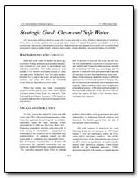 Strategic Goal : Clean and Safe Water by Environmental Protection Agency