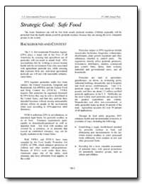 Strategic Goal : Saffe Food by Environmental Protection Agency