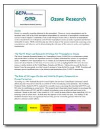 Ozone Research by Environmental Protection Agency