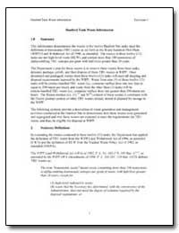 Hanford Tank Waste Information by Environmental Protection Agency