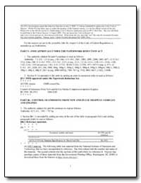 Part 9Omb Approvals under the Paperwork ... by Environmental Protection Agency