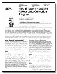 How to Start or Expand a Recycling Colle... by Environmental Protection Agency