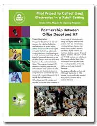 Pilot P Roject to Collect Used Electroni... by Environmental Protection Agency