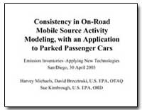 Consistency in On-Road Mobile Source Act... by Michaels, Harvey