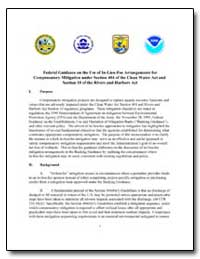 Federal Guidance on the Use of In-Lieu-F... by Environmental Protection Agency