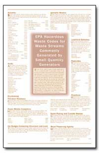 Epa Hazardous Waste Codes for Waste Stre... by Environmental Protection Agency