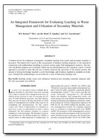 An Integrated Framework for Evaluating L... by Kosson, D. S.