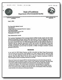 State of Louisiana Department of Environ... by Environmental Protection Agency