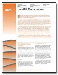 Landfill Reclamation by Environmental Protection Agency
