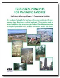 Ecological Principles for Managing Land ... by Environmental Protection Agency