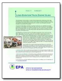 Long-Duration Truck Engine Idling by Environmental Protection Agency