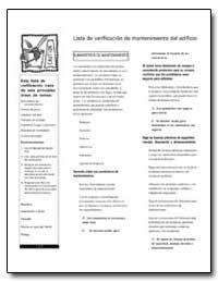 Lista de Verificacion de Mantenimiento D... by Environmental Protection Agency