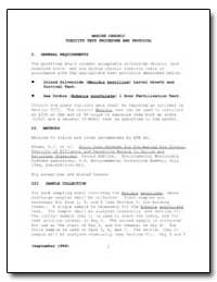 Marine Chronic Toxicity Test Procedure a... by Environmental Protection Agency