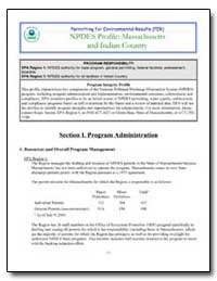 Npdes Profile : Massachusetts and Indian... by Environmental Protection Agency