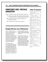 Mercury Use : Metals Industry by Environmental Protection Agency