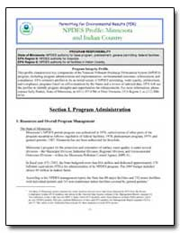 Npdes Profile : Minnesota and Indian Cou... by Environmental Protection Agency