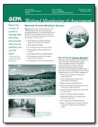 Wetlands Provide Beneficial Services by Environmental Protection Agency