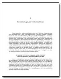 Economic, Legal, And Institutional Issue... by Environmental Protection Agency