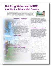 A Guide for Private Well Owners by Environmental Protection Agency
