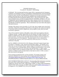 Marssim Meeting Notice by Environmental Protection Agency