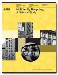 Multifamily Recycling a National Study by Environmental Protection Agency