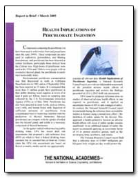 Health Implications of Perchlorate Inges... by Environmental Protection Agency
