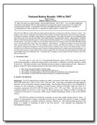 National Radon Results : 1985 to 2003 by Jalbert, Philip P.