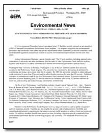 Environmental News for Release : Friday,... by Environmental Protection Agency