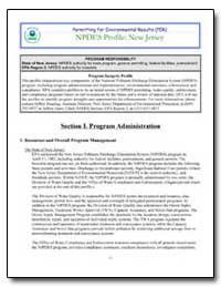 Npdes Profile : New Jersey by Environmental Protection Agency