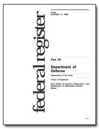 Part VII Department of Defense by Environmental Protection Agency