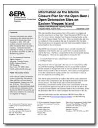 Information on the Interim Closure Plan ... by Environmental Protection Agency