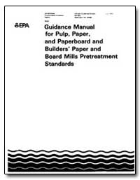 Guidance Manual for Pulp, Pepar, And Pap... by Prothro, Martha G.