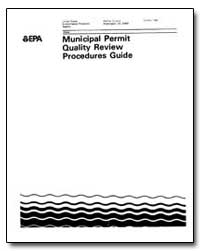 Municipal Permit Quality Review Procedur... by Environmental Protection Agency