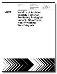 Validity of Ambient Toxicity Tests for P... by Mount, Donald I.