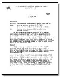 Continuance of Npdes General Permits und... by Barrett, Bruce R.