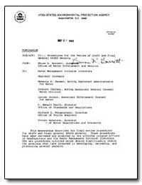 Final Procedures for the Review of Draft... by Barrett, Bruce R.