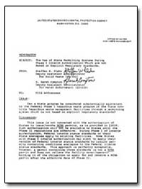 United States Environmental Protection A... by Plehn, Steffen W.