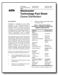 Wastewater Technology Fact Sheet Ozone D... by Environmental Protection Agency
