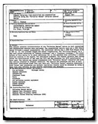 Bibliographic Data Sheet by Environmental Protection Agency