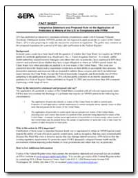 Interpretive Statement and Proposed Rule... by Environmental Protection Agency