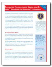 Presidents Environmental Youth Awards by Environmental Protection Agency
