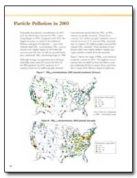 Particle Pollution in 2003 by Environmental Protection Agency