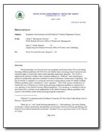 Regulatory Determination for the Prekote... by Boornazian, Linda Y.